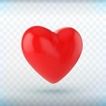 Icono de corazón rojo sobre fondo negro.