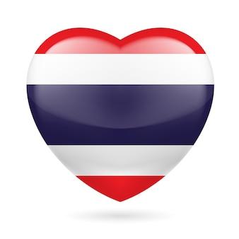 Icono del corazón de tailandia