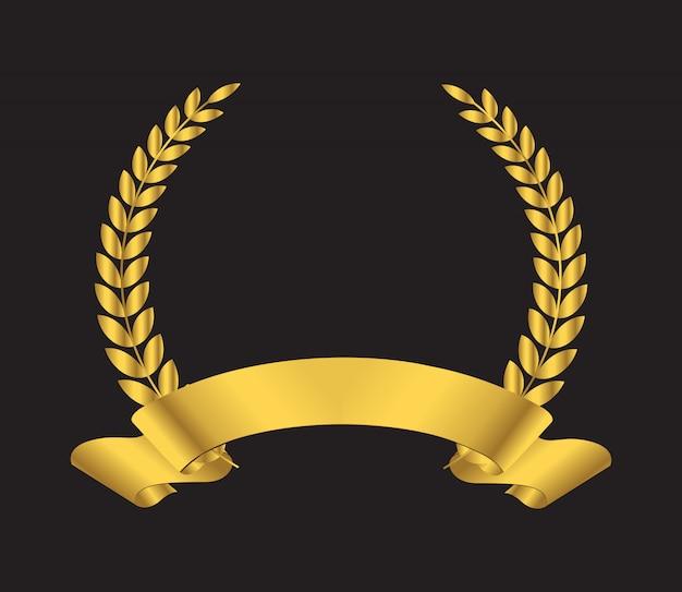 Icono de corona de laurel premium