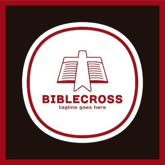 Icono de cross bookmark