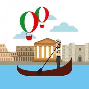 Icono de la cultura italiana vacaciones