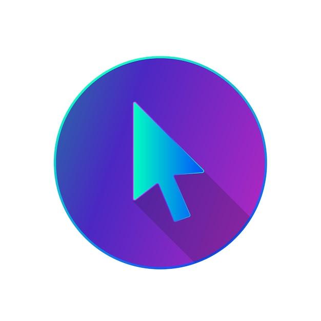 Icono de cursor de diseño imagen plana de flecha ilustración simple del icono de elemento de cursor para cualquier diseño