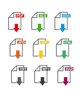Icono de archivo de descarga de flecha