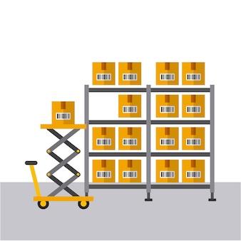 Icono de cajas de cartón