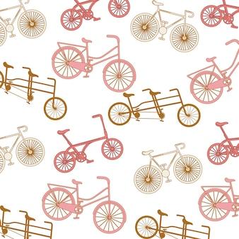 Icono de cartel de bicicleta de patrón