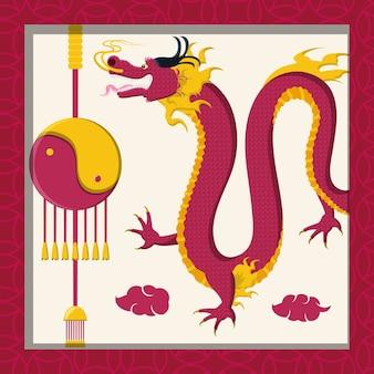 Icono de dragón de cultura china