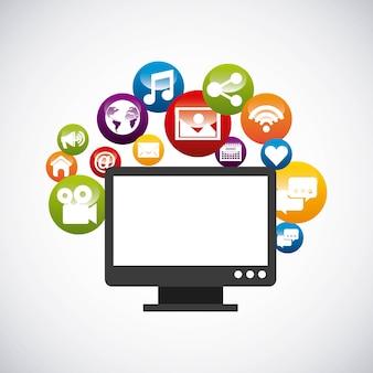 Icono de e-learning de educación a distancia