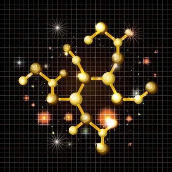 Icono de estructura de oro de molécula