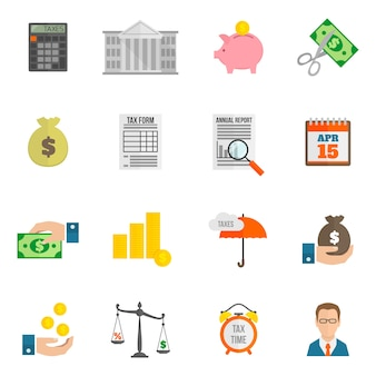 Icono de impuesto plano