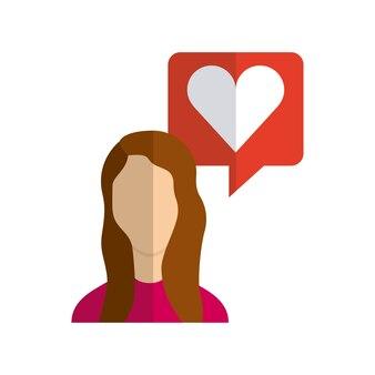 Icono de línea plana de medios sociales
