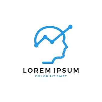 Icono de logotipo de crecimiento de estadísticas humanas descarga del icono