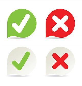 Icono de marca de verificación