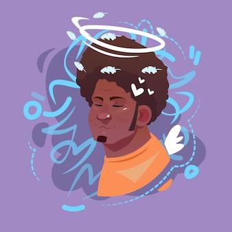 ícono de perfil arab male emotion avatar
