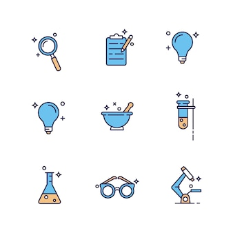 Icono de química de laboratorios