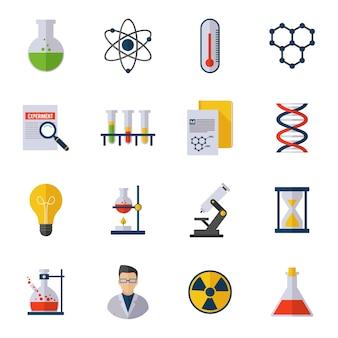 Icono de química plana