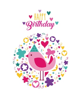 Icono de tarjeta de celebración de feliz cumpleaños