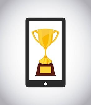 Icono de teléfono inteligente tecnología dispositivo electrónico