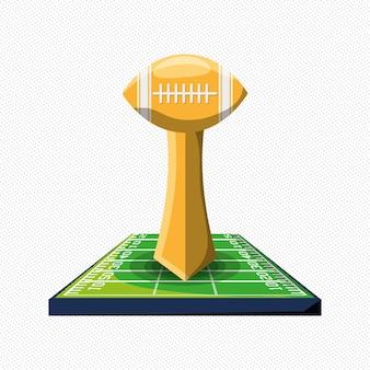 Icono de trofeo de fútbol americano