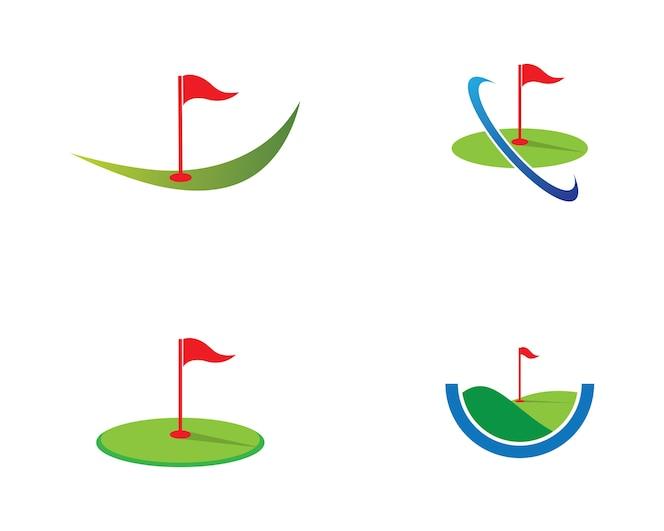 Icono de vector de golf