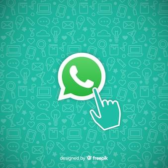 Icono de whatsapp con mano