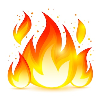 Icono decorativo de fuego