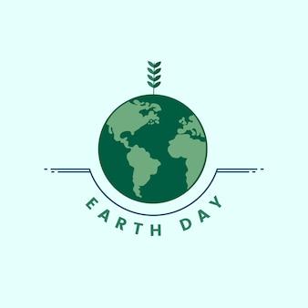Icono del día de la tierra y el medio ambiente