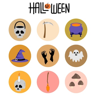 Icono de dibujos animados de conejito de halloween lindo