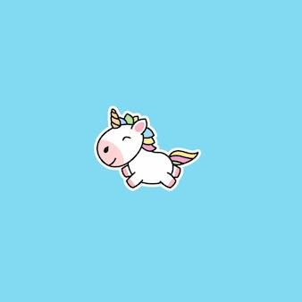 Icono de dibujos animados lindo unicornio