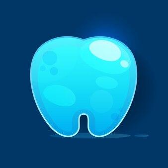 Icono de diente en la ilustración de fondo blanco