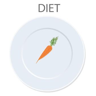 Icono de dieta. ilustración vectorial