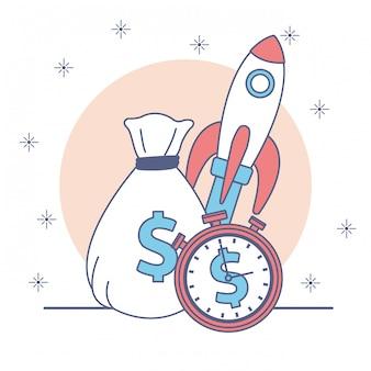 Icono de dinero y negocios