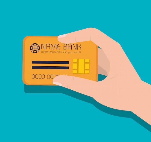Icono de dinero de tarjeta de crédito