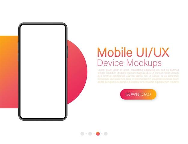 Icono con diseño de interfaz de usuario y ux móvil sobre fondo rojo para diseño web