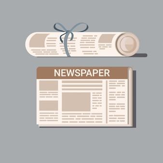 Icono de diseño plano de periódico,