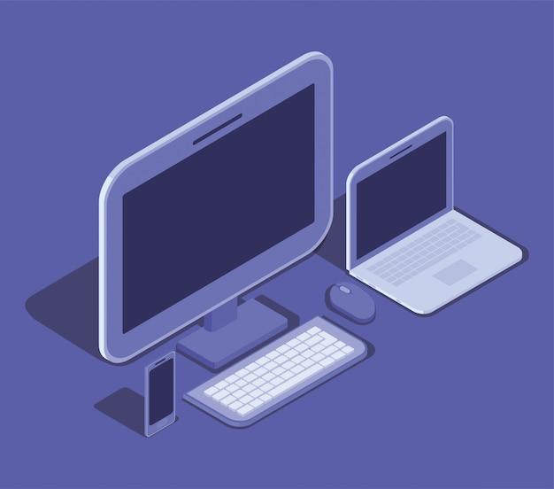 Icono de dispositivo de tecnología de computadora de escritorio