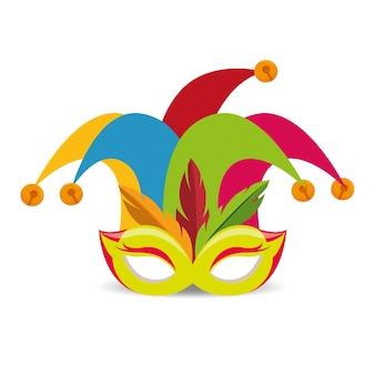 Icono divertido de sombrero de harlequin