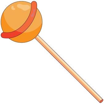 Icono de dulce en un estilo plano para fiesta de halloween o día de acción de gracias