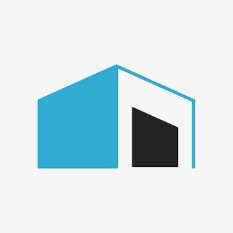Icono de edificio, ilustración de vector de diseño plano de símbolo de negocio de arquitectura