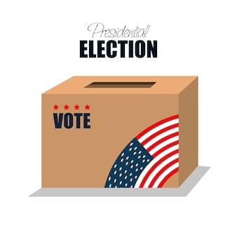 Icono elección de cuadro de votación presidencial