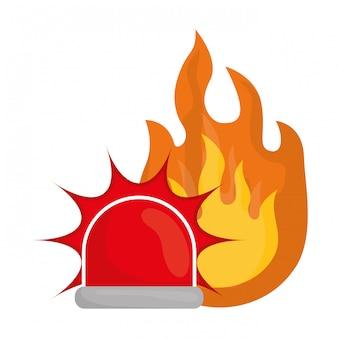 Icono de emergencia, ilustración vectorial