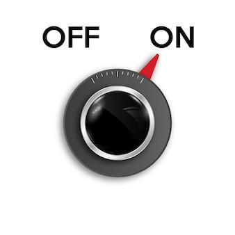 Icono de encendido y apagado del botón interruptor de alternar.