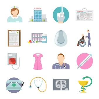 Icono de enfermera plana