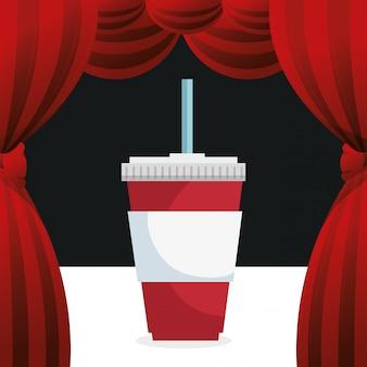 Icono de entretenimiento de bebida de soda de cine