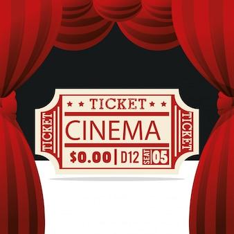 Icono de entretenimiento de cine de boleto