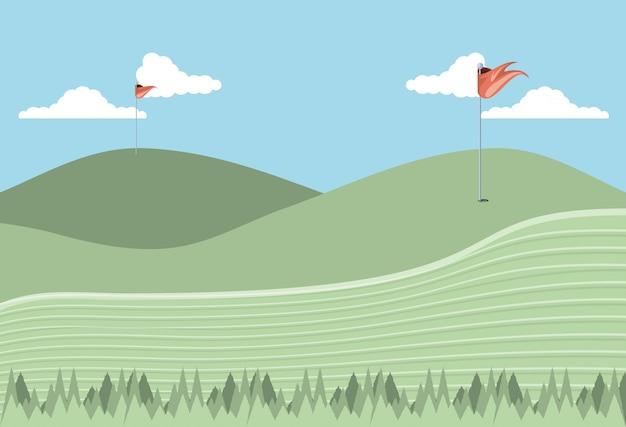Icono de escena de maldición de golf