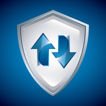 Icono de escudo diseño de seguridad gráfico vectorial