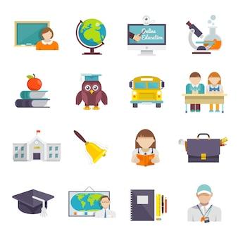 Icono de la escuela plana