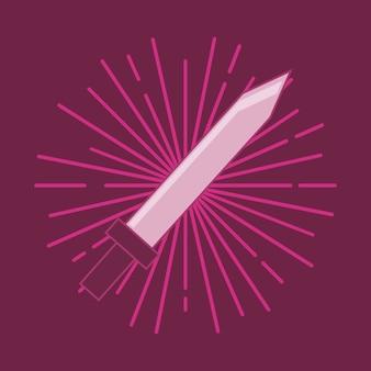 Icono de la espada sobre fondo rojo