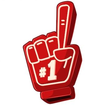 Icono de espuma de dedo