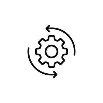 Icono de esquema de flujo de trabajo. para aplicaciones móviles y uso de la web. vector eps 10. aislado sobre fondo blanco.